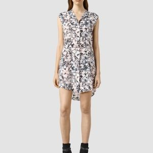Luna Goya Silk Dress Allsaints